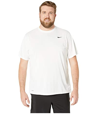 Nike Big Tall Legend 2.0 Short Sleeve Tee (White/Black/Black) Men