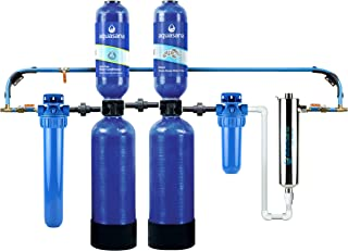 Aquasana Whole House Water Filter System w/ UV Purifier & Salt-Free Descaler - Filters Sediment & 97% Of Chlorine - Carbon & KDF Home Water Filtration