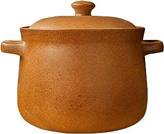 HXCQHWHW أواني طهي صلصال أواني طهي الطين أواني طهي HXCQHWSO بارد وساخن بدون تشقق، صناعة يدوية نقية (الحجم: 5.0L)