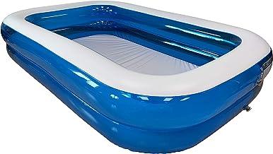 KG KITGARDEN - Piscina Hinchable Rectangular 660 litros, 260x175x51cm, Azul/Transparente, Pool 262TAZ