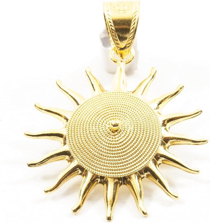 Ciondolo sole corbula oro giallo 18kt marrocu gioielli CS710021