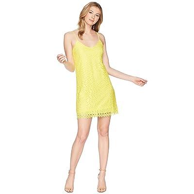 Jack by BB Dakota Jemma Geometric Lace Slip Dress (Lemon Yellow) Women