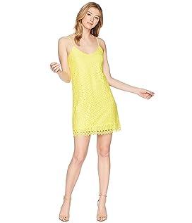 Jemma Geometric Lace Slip Dress