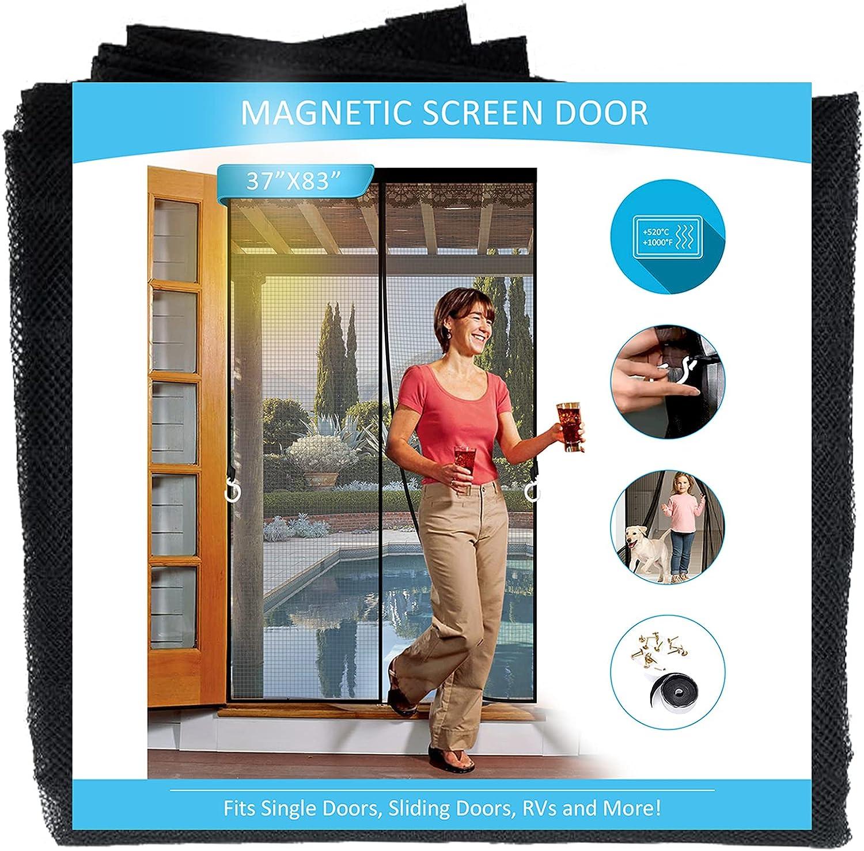 Fiberglass low-pricing Magnetic Screen New product!! Door Doors Hoo Magnets with