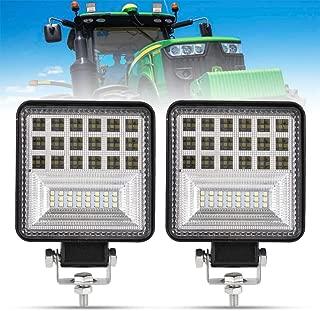 4 Inch LED Work Light - 2Pcs 8000LM Spot & Flood Combo Beam LED Light Bar for Tractor Vehicle Truck Jeep ATV UTV SUV Boat, 5 Years Warranty