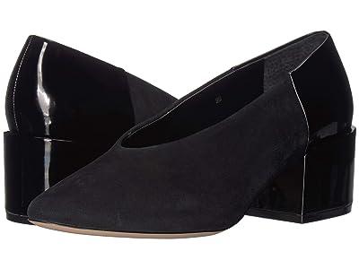 Vaneli Sieska (Black Suede/Black Super Patent) High Heels