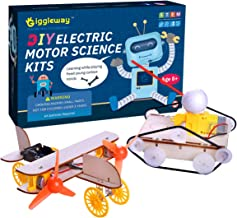 Giggleway Electric Motor Science Kits for Kids, DIY Wooden Kids Science Experiment Kits, Circuit Building STEM Toys for Bo...