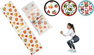 BBx Fitness Fabric Hip Circle Booty Bands for Women | Resistance Bands for Legs & Butt | Glute Bands in Four Resistance Levels & Three Fun Designs | Free Exercise Guide