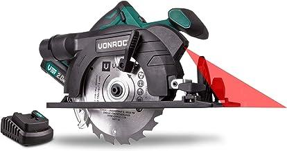 VONROC Vpower 20V Akülü Daire/Sunta Kesme Testere - 150 mm - 1x 2.0Ah - dahil olan Testere Bıçağı ve parallel iletken
