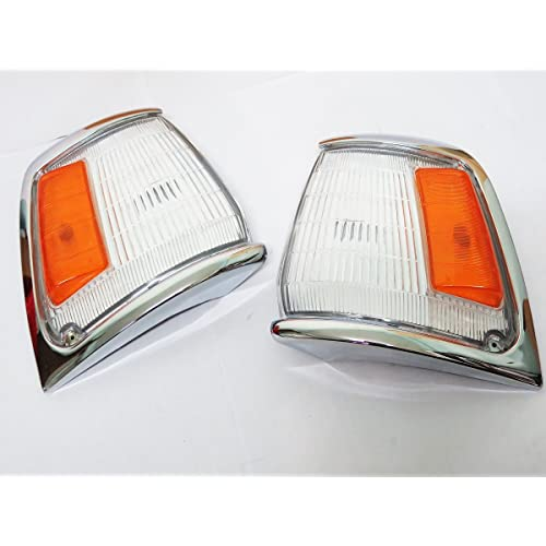 89-95 Toyota Hilux Ln85 5th Gen 2wd Chrome Corner Light Indicator Pair New 90