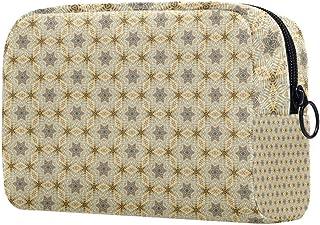 Star Pattern Makeup Bag Toiletry Bag for Women Skincare Cosmetic Handy Pouch Zipper Handbag