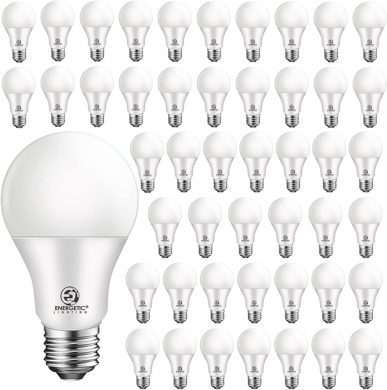 Ranking TOP18 48 Max 86% OFF Pack A19 LED Bulb 60 Watt E26 Me Daylight Equivalent 5000K