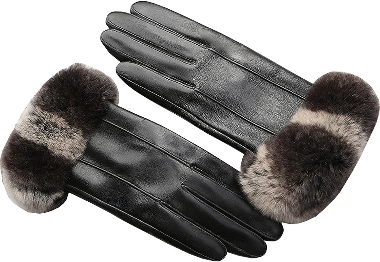 Jjshueryg Driving and Popular shop is the lowest price challenge Velvet Warm Rabbit Rex Gloves Fur Financial sales sale Fashion