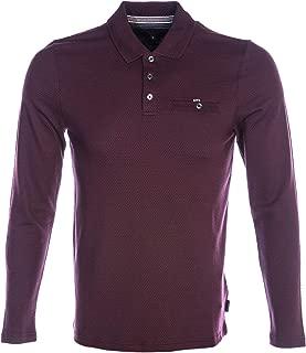 Ted Baker Recline Long Sleeve Polo Shirt in Deep Purple