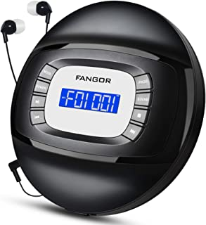 Portable CD Player with Headphones, FANGOR Compact Rechargeable CD Player with Anti-Skip/Shock Protection Small CD Walkman...