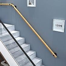 1.6ft-20ft Houten Leuning Complete Kit, Barrièrevrije Trap Handgreep Voor Ouderen, Wandmontage Huis Tuin Gang Lofts Terras...