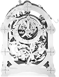 Time 4 Machine Mysterious Timer Pendulum Clock Metal 3D Assembly Puzzle Mechanical Model Gears Self-Assembly Kit Construction Set DIY Brain Teaser Toy for Kids and Adults