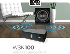 OSD Audio Wireless Subwoofer and Receiver Kit – 34 Channel Transmitter - WSK100