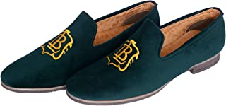 Hush Berry Velvet Designer Shoe Special Design for Men