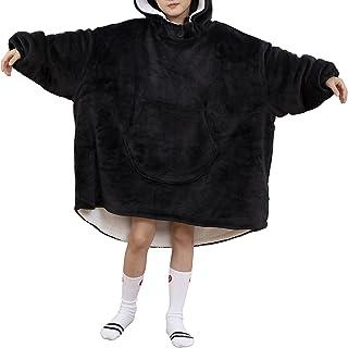 Westkun Enfants Sweat à Capuche Sweat-Shirt Couverture Grand Taille en Polaire Sherpa Fluffle Chaud Peignoir Pyjama Gande ...