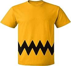 Custom Kingdom Mens Peanuts Charlie Brown Double-Sided Zig Zag Costume T-Shirt