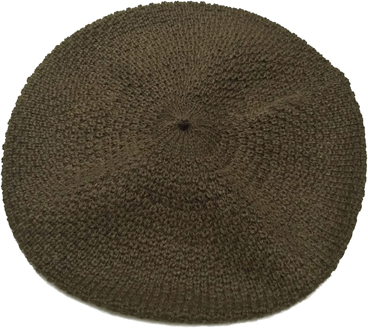 100% Pure Alpaca Knit Beret - Soft Slouchy Style Tam for Women