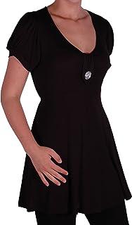 EyeCatch–Sierra Womens Short Sleeve V Neck Tunic Womens Top Plus Size 16–22
