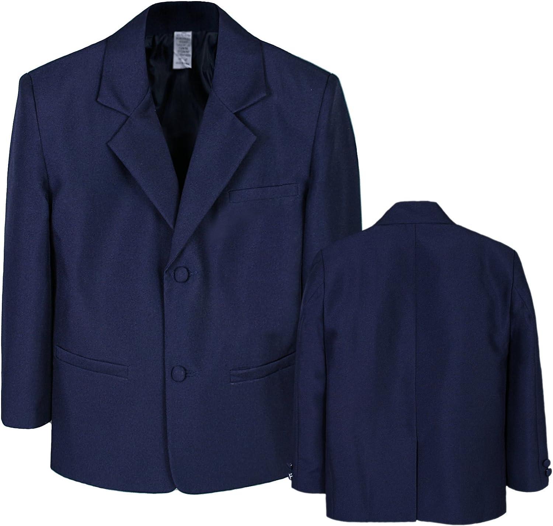 Boy Infant Kid Teen Formal Wedding Party Church Blazer Navy Suit Jacket S-20