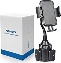 TOPGO [Upgraded] Cup Holder Phone Mount Universal Adjustable Gooseneck Cup Holder Cradle Car Mount for Cell Phone iPhone Xs/XS Max/X/8/7 Plus/Galaxy
