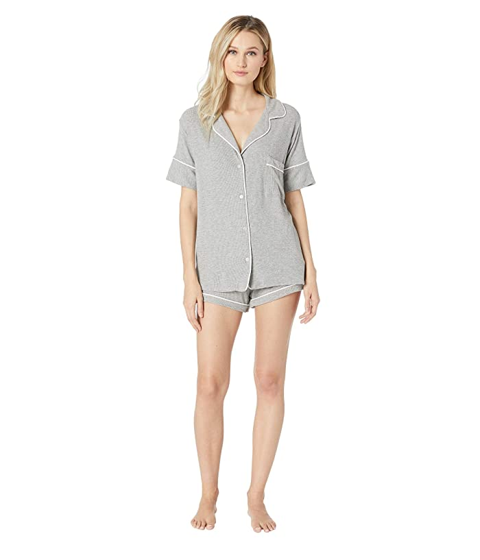 Maison Du Soir Monaco Short Sleeve Set (Heather Grey Rib) Women