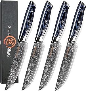 couteau 4pcs Couteau Steak Set Damascus VG10 Couteaux de cuisine en acier Couteau de table Table de coupe de haute qualité...
