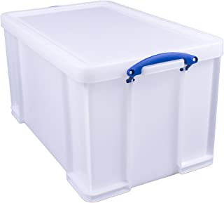 Verkligen användbar förvaringslåda 84 liter vit stark