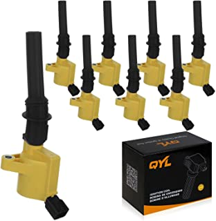 QYL Pack of 8 Ignition Coil Replacement for Ford F150 E150 E350 Crown Victoria Mustang Expedition 4.6L 5.4L 6.8L V8 DG508 C1454 C1417 FD503 DG457