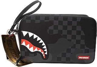 SPRAYGROUND | B3289NSZ 3AM Checkered Camo Toiletry Bag - Black Black