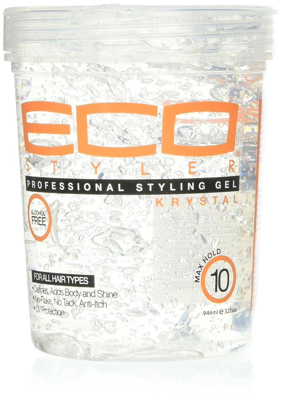 補体ティーム盆Eco Styler Styling Gel Krystal Clear 900 gm (並行輸入品)