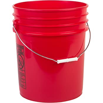 Hudson Exchange Premium 5 Gallon Bucket, HDPE, Red