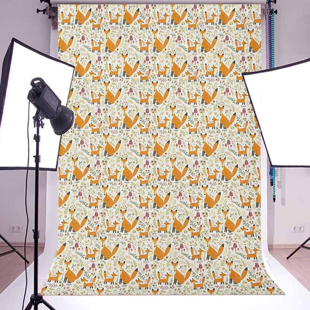 8x12 FT Floral Vinyl Photography Backdrop,Floral Pattern with Abstract Carnation Flower Motifs Swirled Leaves Ornate Antique Background for Photo Backdrop Baby Newborn Photo Studio Props