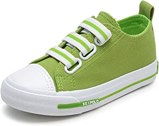 YIBLBOX Kids Toddler Boys Girls Slip On Canvas Low Top Flats Loafers Sneakers Plimsoles Espadrilles