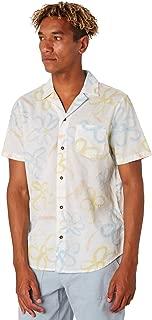 Banks Men's Florish Mens Ss Shirt Short Sleeve Cotton White