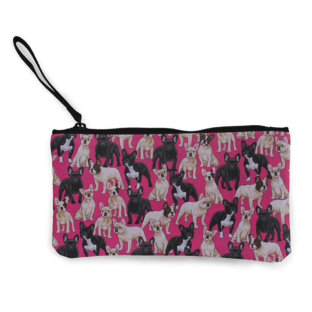 MODREACH Women's Wristlet Wallet Clutch for Smartphones with Wrist Strap Card Coin Purse Case - French Bulldogs Dogs Pets Puppy