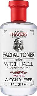 THAYERS Alcohol-Free Rose Petal Witch Hazel Facial Toner with Aloe Vera Formula, 12 Ounce