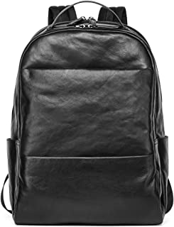 Sharkborough Christopher Rough Backpack Rough Men's Backpack Genuine Leather Bag Extra Capacity Casual Daypacks