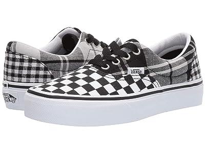 Vans Kids Era (Little Kid/Big Kid) ((Plaid Checkerboard) Black/True White) Girls Shoes