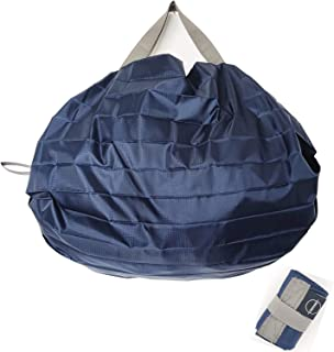 AWUWE エコバッグ 買い物バッグ 折りたたみ 一気にたためる 大容量 防水素材 軽量 耐久 コンビニバッグ 収納便利 水や汚れにも強い