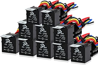DakRide 10 Pack Automotive Relay Switch Harness Set 5-Pin 30A Style Relay Harness Spdt 12V SPDT Contactor 14 AWG Hot Wires with Interlocking Relay Socket for Car Truck Motor Heavy Duty