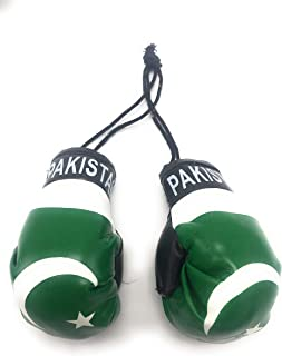 Red Hat Ent Hanging Car Mirror Mini Boxing Gloves (Pakistan)