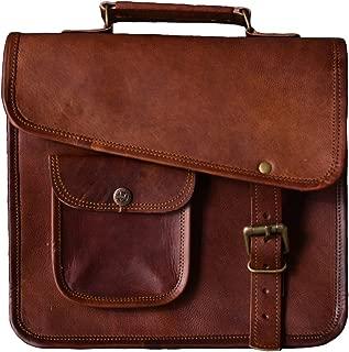 Urban dezire Men's Genuine Leather Small Briefcase Messenger Satchel I pad Tablet Bag 13 inch