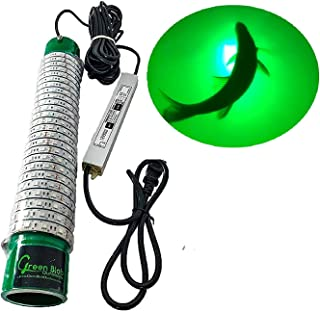 Green Blob Outdoors Fishing Light New (Green, Blue, White, or Multi) Pro 15DX Dock Underwater LED, w/ 30ft Cord, LED, Fish Attractor, Crappie, Snook, Bass, Catfish (15,000 3-Prong Plug, Green)