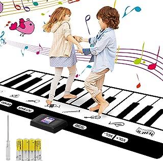 Musical Alfombra para Ninos, Alfombra de Piano Manta de Juguete , Dancing Challenge & Tapiz Musical de Baile, 24 Teclas con 8 Ajustes de Instrumentos Musicales 4 pilas AA incluidas(180*17*1cm)