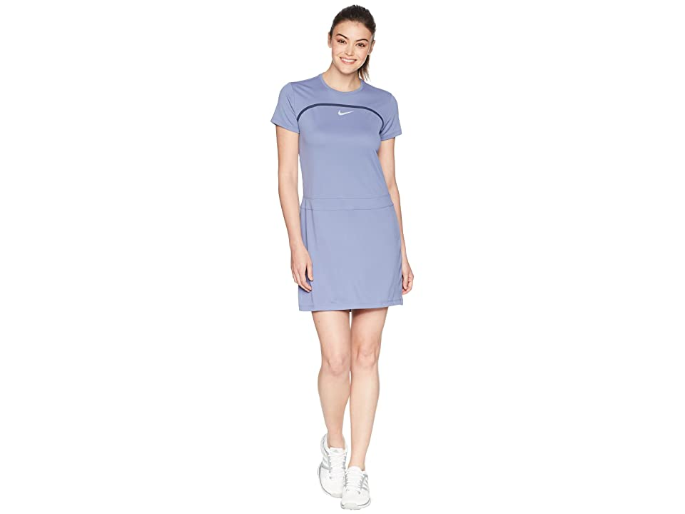 Nike Golf Dry Short Sleeve Dress (Purple Slate/Thunder Blue/Flat Silver) Women